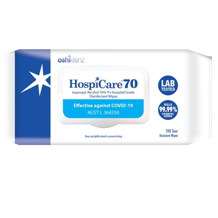HospiCare 70 IPA Wipes